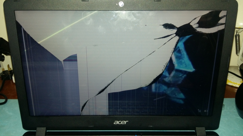Smashed Acer Screen