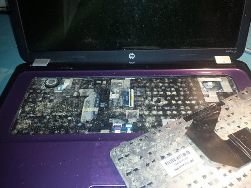 Dust Under Keyboard